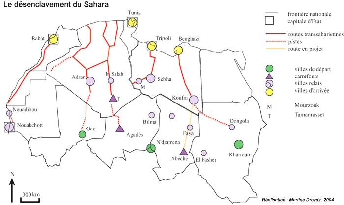 SAHARA N° 2 UN ESPACE DU FLUX ET D'ECHANGES - LE SAHARA, UNE INTERFACE AFRICAINE MD-SaharaRoutes