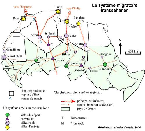 SAHARA N° 5 UN ESPACE DU FLUX ET D'ECHANGES - LE SAHARA, UNE INTERFACE AFRICAINE MD-SaharaMigrat
