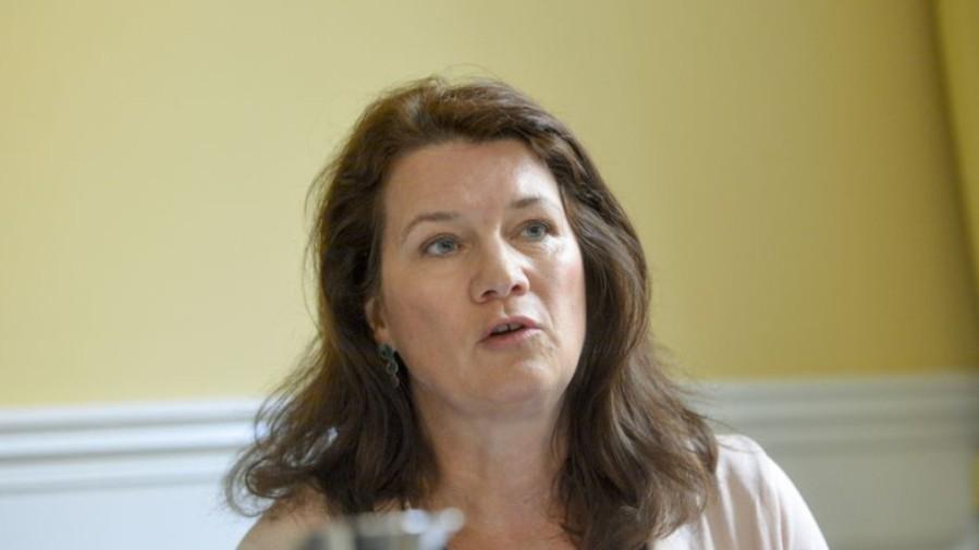 SUEDE avec Ann Linde, Ministre des Affaires étrangères de la Suède Ann-Linde
