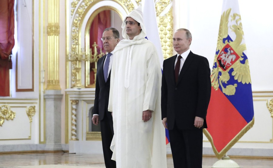 Lotfi Bouchaara (Kingdom of Morocco) presents his letter of credence to Vladimir Putin. Photo Mikhail Metzel, TASS N 5 w9HCKtmJP4w3jHer2iQcSX2XJtXYnGii