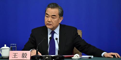 Ministre des Affaires étrangères Wang Yi FOREIGN201803081204000166092788405