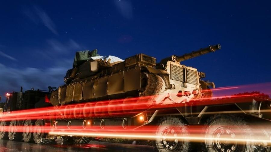 Renforts militaires turcs pour la région d'Idleb, ce 7 février 2020. Aref TAMMAWI AFP 000_1os90h_0