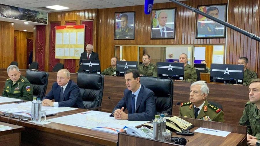 Vladimir Poutine a rencontré le président Assad dans un centre de commandement de l'armée russe w980-p16x9-2020-01-07t145203z_649375171_rc22be9yugh6_rtrmadp_3_syria-russia_0