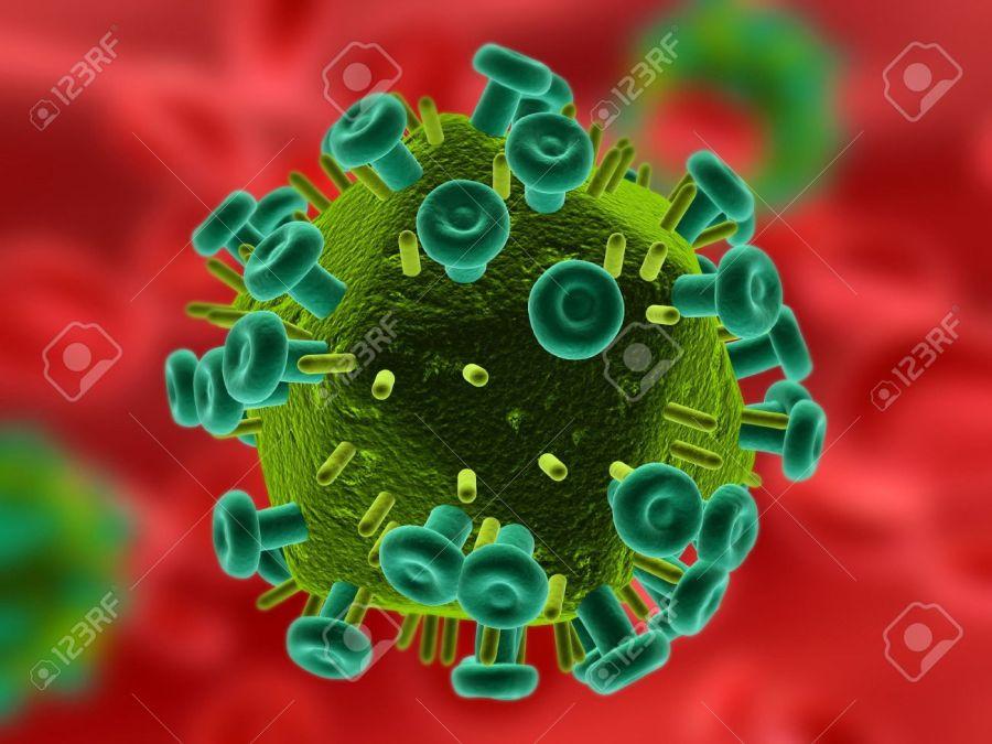 2846472-isolé-le-virus-vih