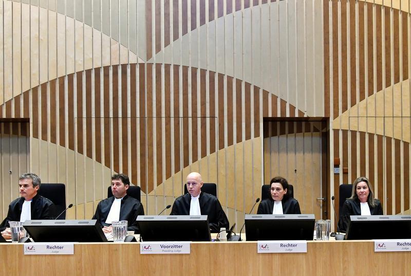 À Badhoevedorp, aux Pays-Bas, le 10mars 2020, le tribunal chargé de juger la destruction du vol MH17. PHOTO Piroschka Van De Wouw REUTERS rts35gwj_layout_comp