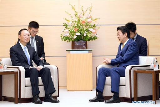 chine le directeur Yang Jiechi a rencontré le Premier Ministre japonais Shinzo Abe unnamed
