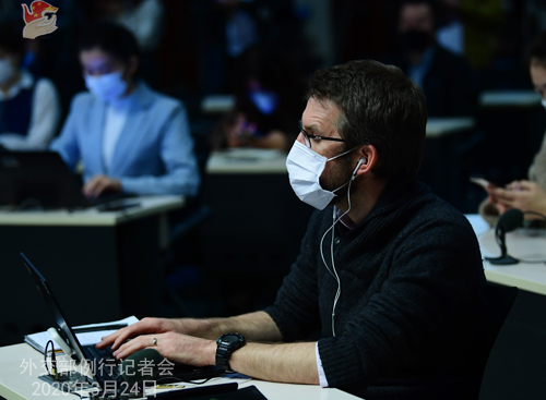 CHINE N° 7 Conférence de presse du 24 mars 2020 tenue par le Porte-parole du Ministère des Affaires étrangères Geng Shuang W020200327713250754570
