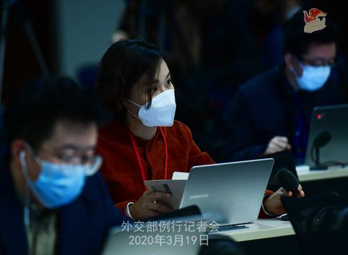 CHINE PH 12 Conférence de presse du 19 mars 2020 tenue par le porte-parole du Ministère des Affaires étrangères Geng Shuang W020200323391698082620