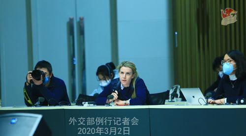 Conférence de presse du 2 MARS 2020 tenue par le Porte-parole du Ministère des Affaires étrangères Zhao Lijian N 21 --- W020200305293451812013