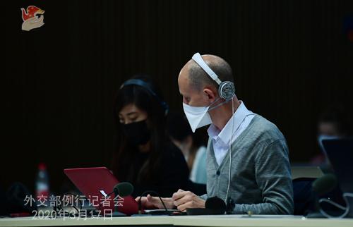 Conférence de presse N° 21 du 17 mars 2020 tenue par le porte-parole du Ministère des Affaires étrangères Geng Shuang......... W020200320381513820523