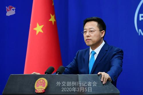 Conférence N° 11 de presse du 5 mars 2020 tenue par le Porte-parole du Ministère des Affaires étrangères Zhao Lijian W020200308817227468834 W020200308817227462402