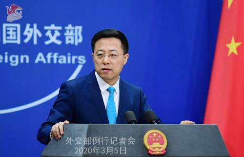 Conférence N° 12 de presse du 5 mars 2020 tenue par le Porte-parole du Ministère des Affaires étrangères Zhao Lijian W020200308817227468834 W020200308817227470876