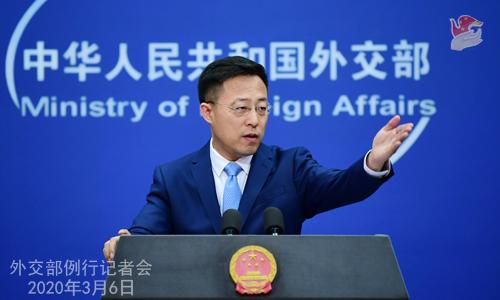 Conférence N° 15 de presse du 6 mars 2020 tenue par le Porte-parole du Ministère des Affaires étrangères Zhao Lijian W020200311395784226478