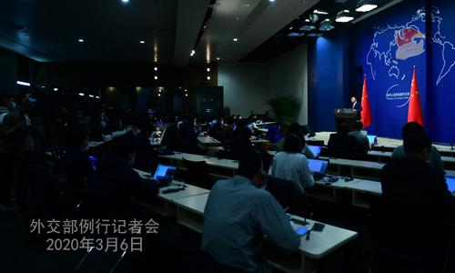 Conférence N° 17 de presse du 6 mars 2020 tenue par le Porte-parole du Ministère des Affaires étrangères Zhao Lijian W020200311395784231553
