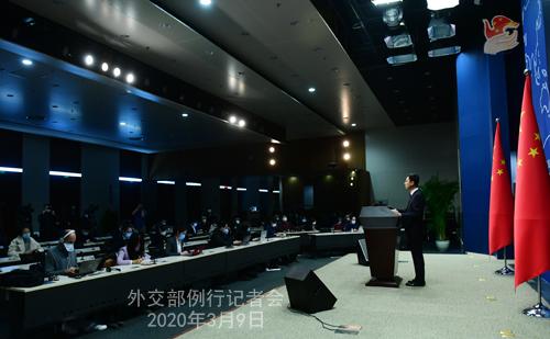 Conférence N°21 de presse du 9 mars 2020 tenue par le porte-parole du Ministère des Affaires étrangères Geng Shuang W020200312475941816266