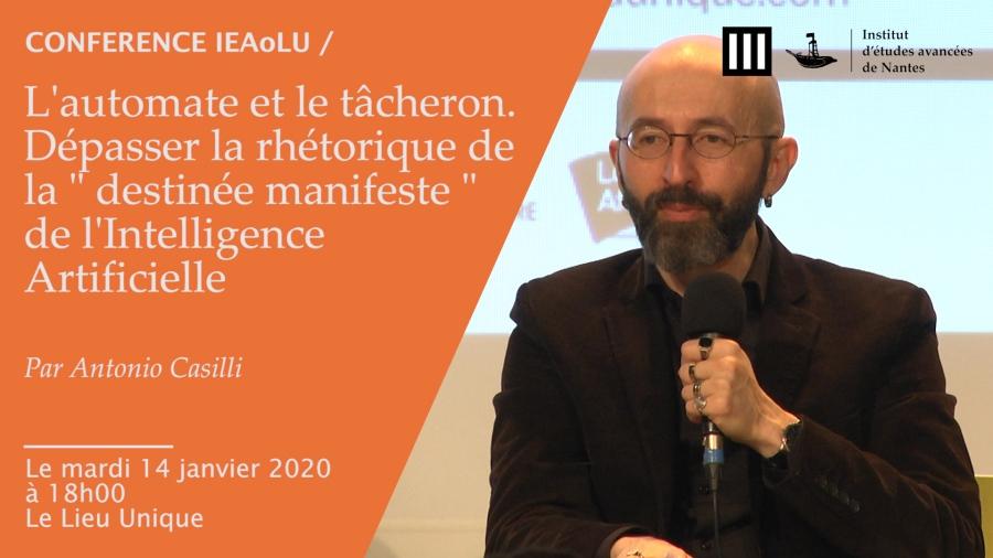 FRANCE Antonio Casilli, professeur de sociologie à Télécom Paris, casilli02