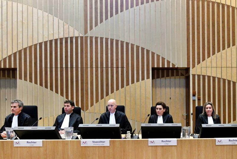 Les juges chargés du procès du crash du vol MH17 aux Pays-Bas, hier. Piroschka Van De Wouw-Reuters 181173_140108