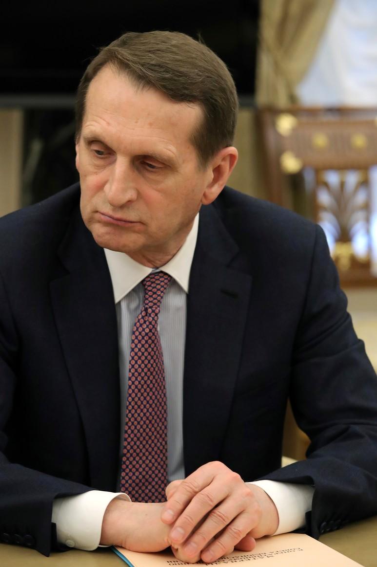 PH 3 SUR 6 Directeur du Service de renseignement étranger Sergei Naryshkin lors de la réunion avec les membres permanents du Conseil de sécurité. 65y1Idpy6AKD8R015JDcSf7MHRzPRIND
