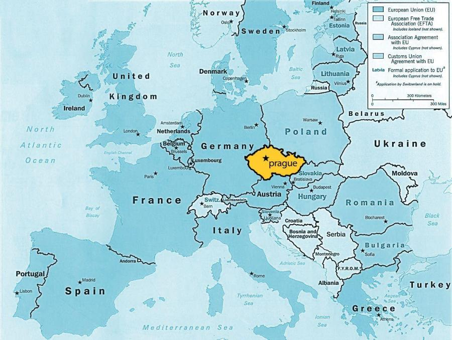 plan-de-la-ville-de-prague-république-tchèque