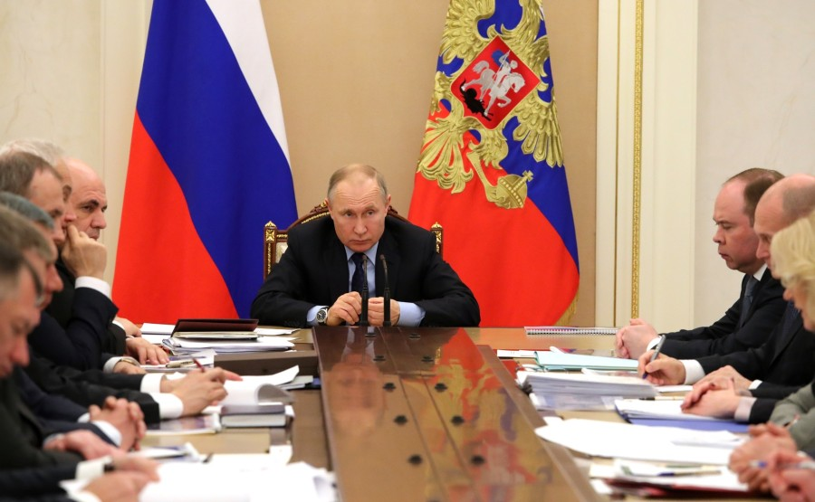 RUSSIE 3 SUR 8 Meeting with Government members. zQu0x8SX8XZNTC1qJm0adwhTDqrLTVUw