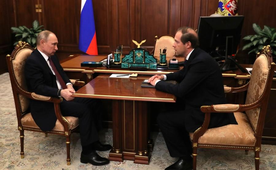 russie 4 SUR 4 Avec le ministre de l'Industrie et du Commerce Denis Manturov. d63YT90G9Gp21580Y83utfDwmSwrjHMs