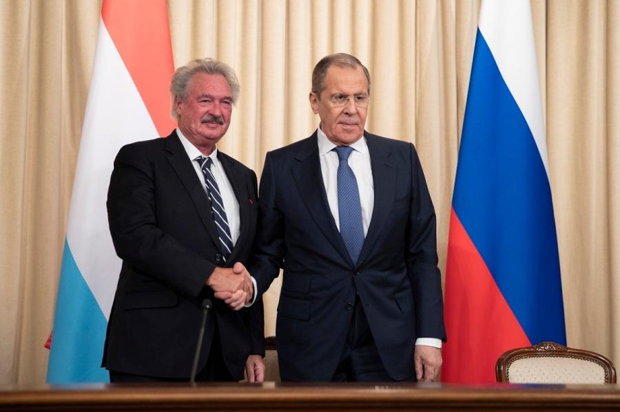 RUSSIE S.LAVROV Jean Asselborn, Ministre des Affaires étrangères et européennes du Grand-Duché de Luxembourg, Moscou, 28 février 2020 Пресс-конф