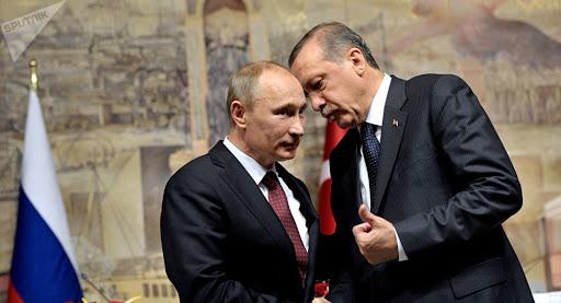 RUSSIE TURQUIE accords conclus le 5 mars 2020 entre le Président russe Vladimir Poutine et le Président turc Recep Tayyip Erdogan.unnamed