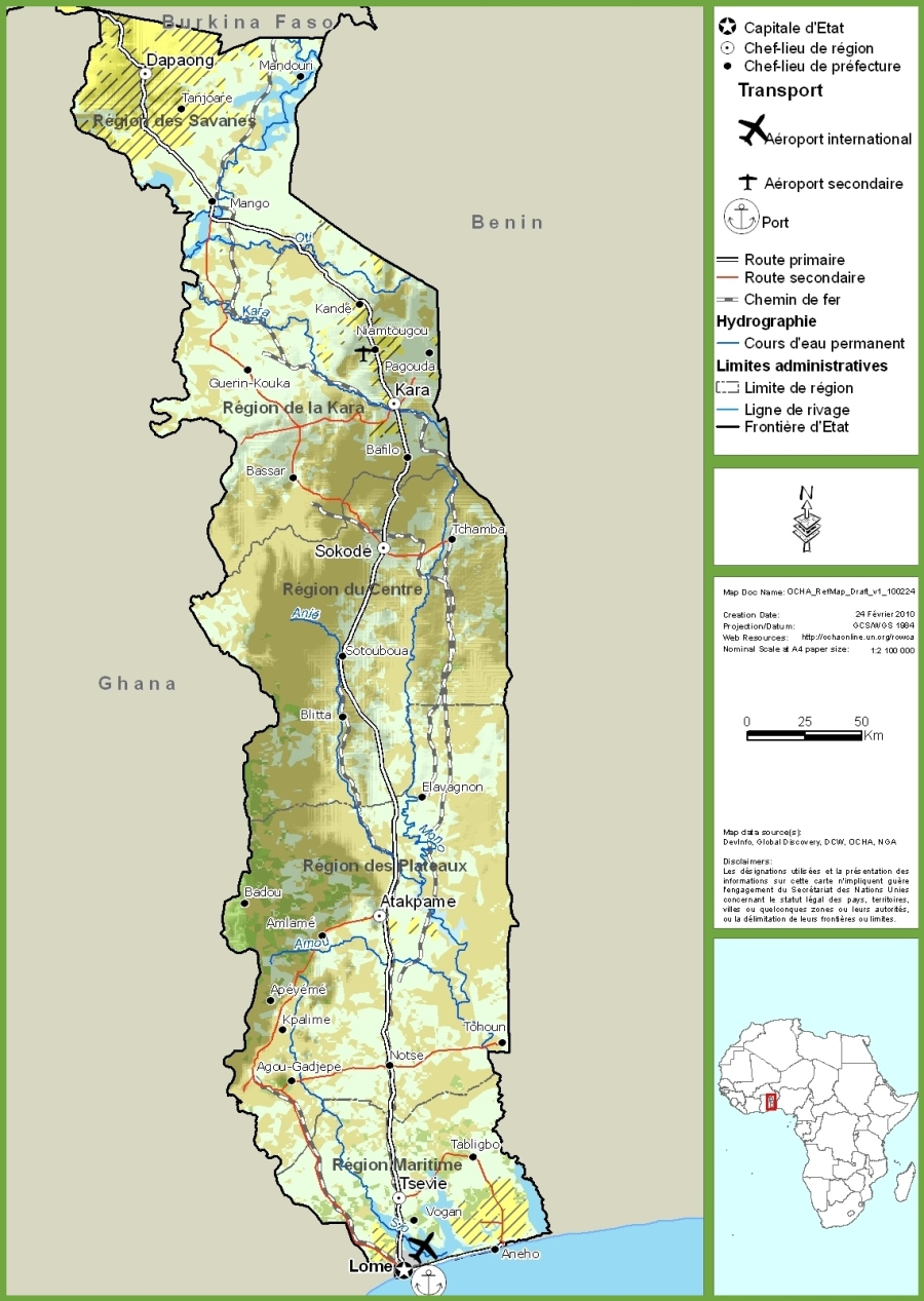 togo-road-map