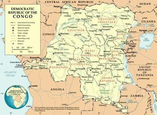 afrique congoCarte-de-la-RDC
