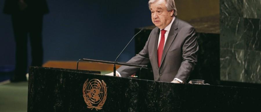 Antonio Guterres, le secrétaire général des Nations unies, tire le signal d'alarme 73709.HR