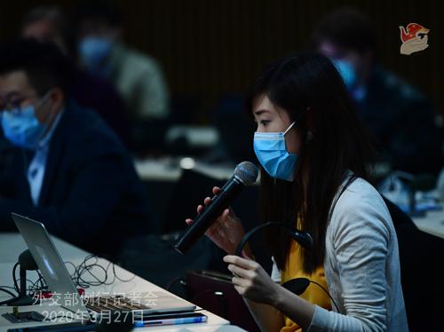 Conférence de presse PH 13 du 27 mars 2020 tenue par le porte-parole du Ministère des Affaires étrangères Geng Shuang W020200401370148006898
