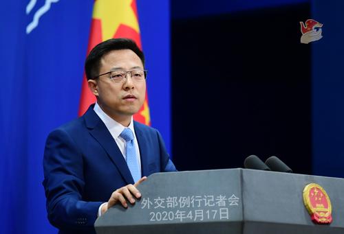 Conférence de presse PH 3 du 17 avril 2020 tenue par le Porte-parole du Ministère des Affaires étrangères Zhao Lijian W020200422348662879341