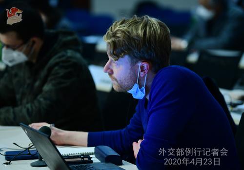 Conférence de presse PH 8-- du 23 avril 2020 tenue par le porte-parole du Ministère des Affaires étrangères Geng Shuang W020200426058534646415