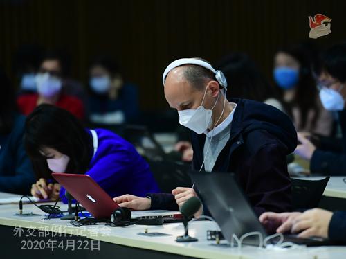 Conférence de presse PH3 du 22 avril 2020 tenue par le porte-parole du Ministère des Affaires étrangères Geng Shuang W020200426055955425027