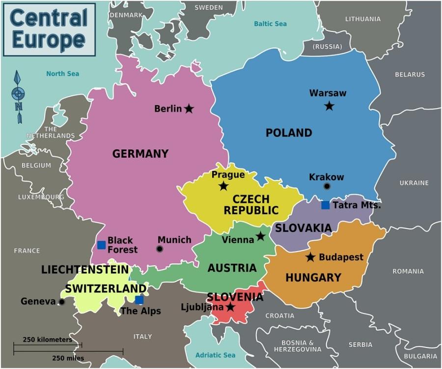 Europe-centrale-carte-de-l-Europe-centrale-Republique-Tcheque-Pologne-Slovaquie-Hongrie-Roumanie-Moldavie-Lichtenstein-Suisse-Europe-centrale-3