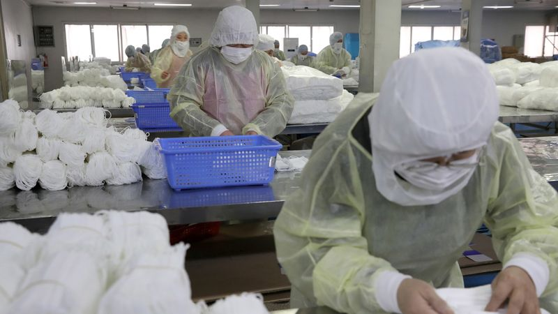 La Chine interdit l'exportation de produits médicaux non homologués. [Xu Congjun - KeystoneEPA] 11214489.image