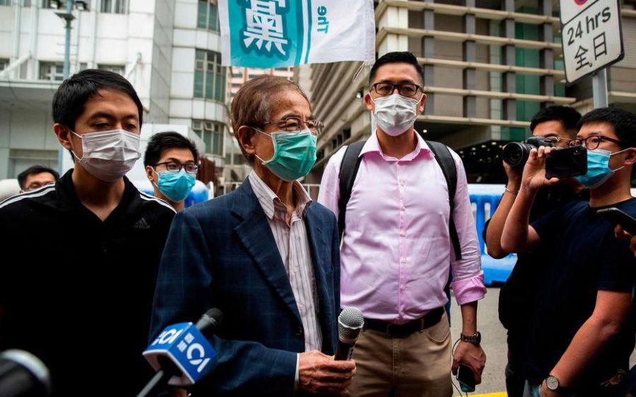 La police de Hong Kong a récemment arrêté 14 personnes, dont Jimmy Lai et Martin Lee, EAHIBASZU6772RJTVXFWZN2OBM