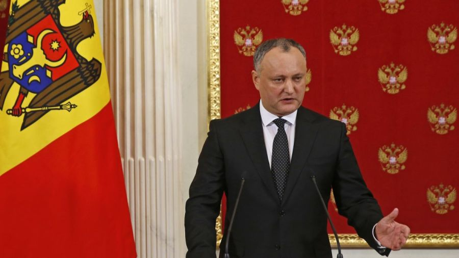 MOLDAVIE le Président moldave Dodon 1042858001
