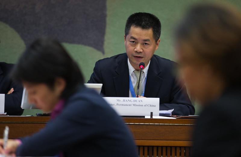 Mr. Jiang Duan, Ministre à la mission de Chine auprès du Conseil des Droits de l'Homme à Genève a29853664172_792281264f_c