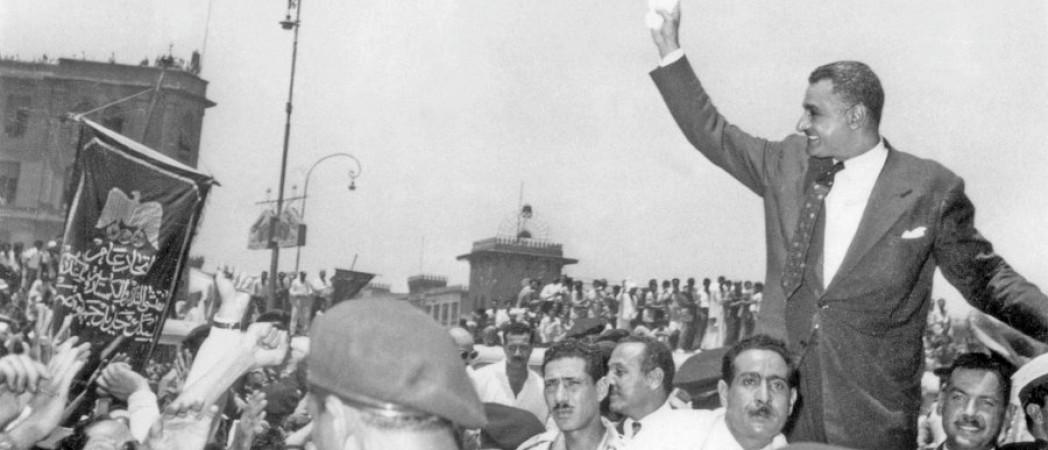NATIONALISATION CANAL DE SUEZ En juillet1956, le président Gamal Abdel Nasser 45601.HR