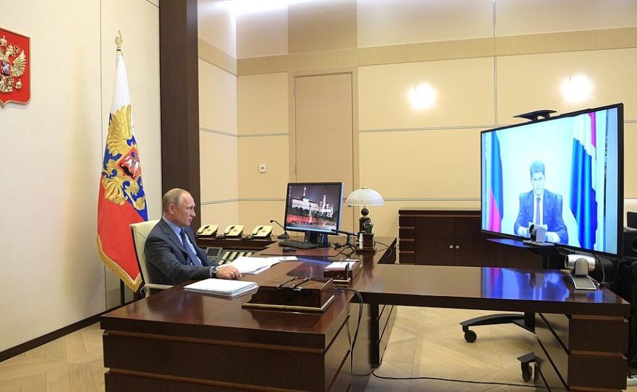 Réunion de travail avec le gouverneur du territoire de Primorye, Oleg Kozhemyako - April 21, 2020 - 14H30 PH 2 SUR 3 0mA0JejD5zpjBfkENpwC0PgN7YNaJvZr