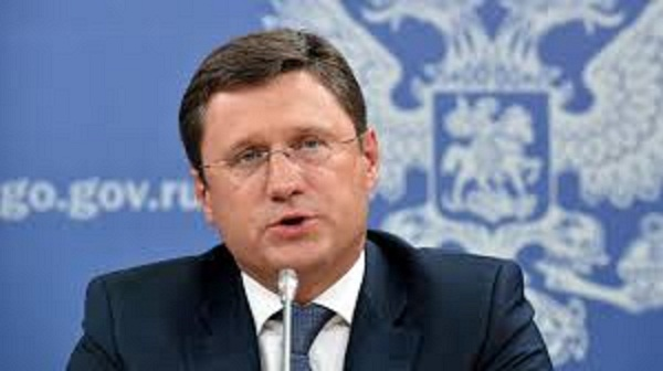 RUSSIE Ministre de l'énergie Alexander Novak novak