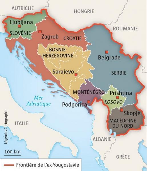 Sept nouveau Etats - Yougoslavie 600