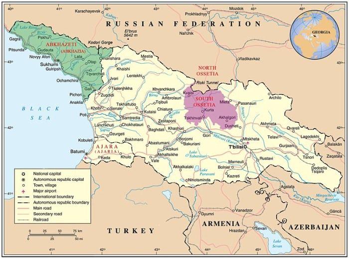 territoire russe à proximité des frontières avec l'Abkhazie et l'Ossétie du Sud 29673146