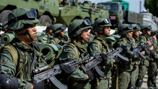 VENEZUELA L'armée vénézuélienne, lors d'une parade militaire. ©AFP e8003666-29d9-4757-a376-a0fa28a0247c