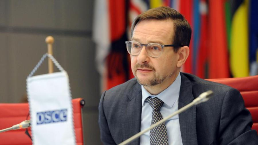 367716 OSCE Secretary General Thomas Greminger at the 1st Preparatory Meeting of the 26th OSCE Economic and Environmental Forum, Vienna, 22 January 2018.