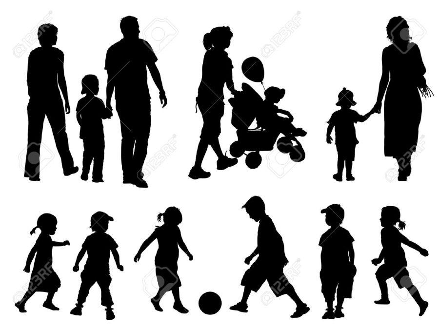 5330223-une-série-de-parents-et-d-enfants-des-silhouettes-vector-illustration-