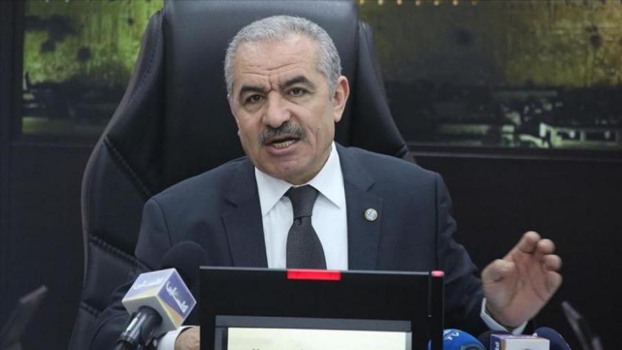 5d429270d9aebe Premier ministre palestinien Mohammad Shtayyeh