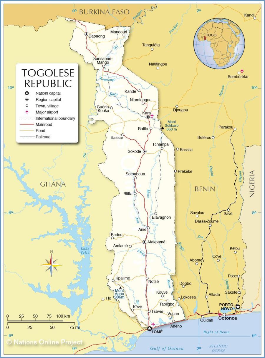 AFRIQUE TOGO carte-togo