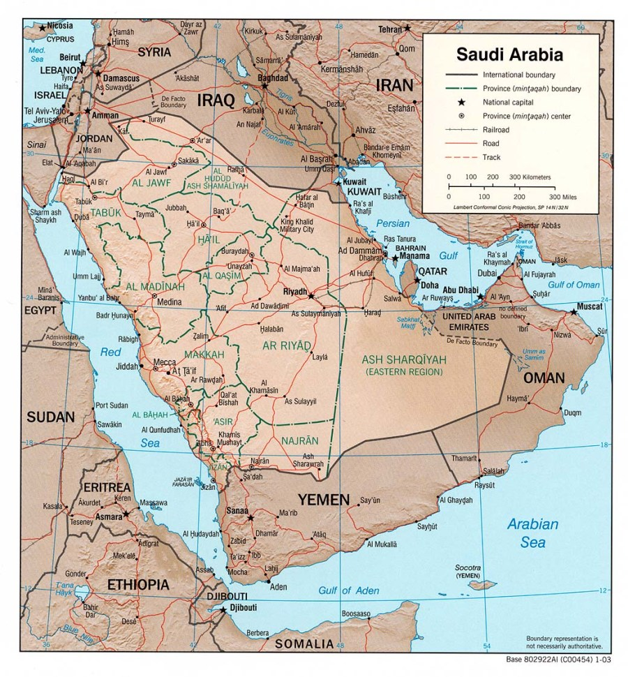arabie-saoudite-relief